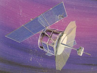 Satellitte With Solar Panels-Found Image Press-Art Print