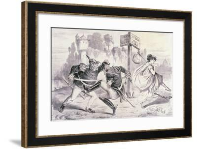 Satirical Cartoon Dedicated to the Capture of Rome--Framed Giclee Print