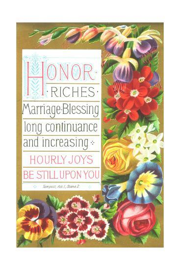 Saturated Spring Flower Blooms Border--Art Print