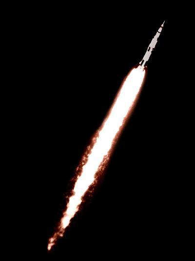 Saturn 5 Test Launch--Photographic Print