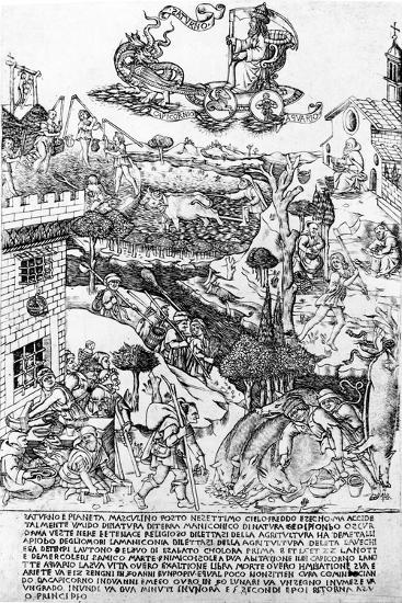 Saturn, C.1464-Baccio Baldini-Giclee Print