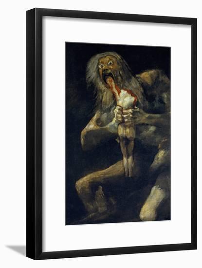 Saturn Devouring His Son-Francisco de Goya-Framed Giclee Print