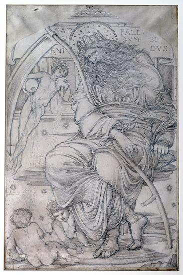 Saturn, from 'The Planets' a Series of Window Designs-Edward Burne-Jones-Giclee Print