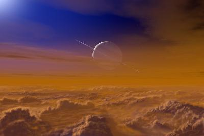 Saturn From the Surface of Titan-Chris Butler-Photographic Print