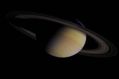 Saturn in Natural Color--Giclee Print