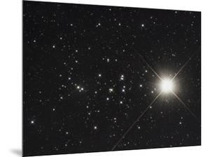 Saturn in the Beehive Star Cluster