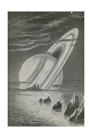 Saturn Like a Setting Sun--Giclee Print