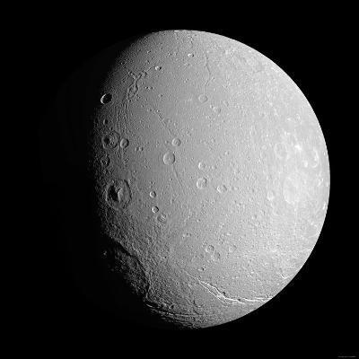 Saturn's Moon Dione-Stocktrek Images-Photographic Print