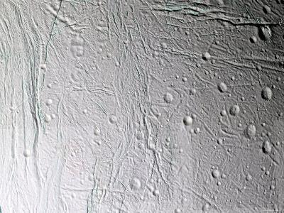 Saturn's Moon Enceladus-Stocktrek Images-Photographic Print