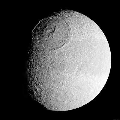 Saturn's Moon Tethys-Stocktrek Images-Photographic Print