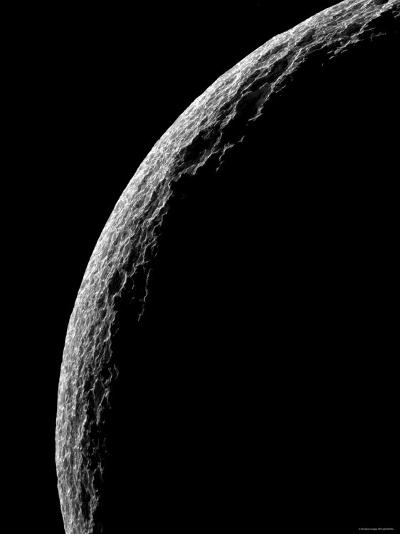 Saturn's Moon Tethys-Stocktrek Images-Photographic Print