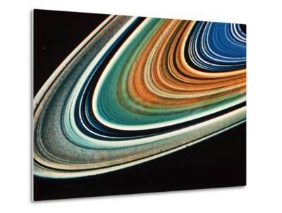 Saturn's Rings, Close-Up.--Metal Print