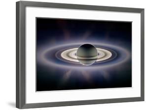 Saturn Silhouetted, Cassini Image