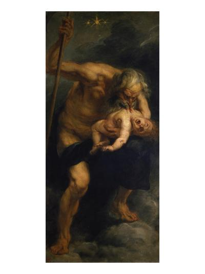 Saturn Verschlingt Eines Seiner Kinder, 1636/1638-Peter Paul Rubens-Giclee Print