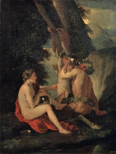 Satyr and Nymph, C.1630-Nicolas Poussin-Giclee Print