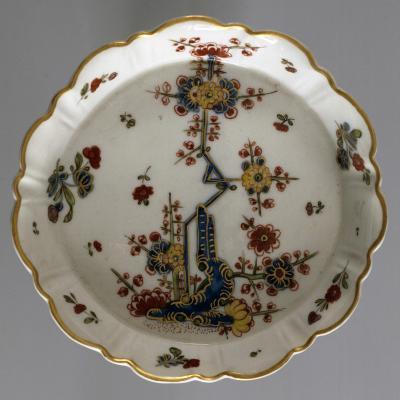Saucer Decorated in Oriental Bridge Motifs, 1780--Giclee Print