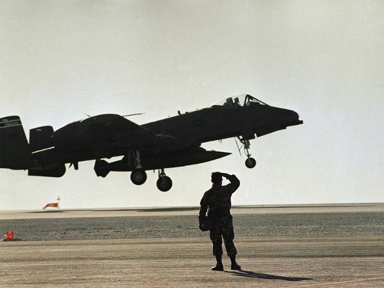 Saudi Arabia Army U.S. Forces A10 Warthog Attack Plane Kuwait Crisis--Photographic Print