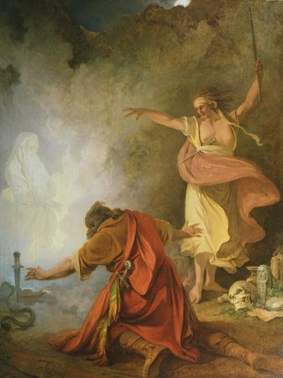 Saul and the Witch of Endor, 1791-Philip James De Loutherbourg-Giclee Print
