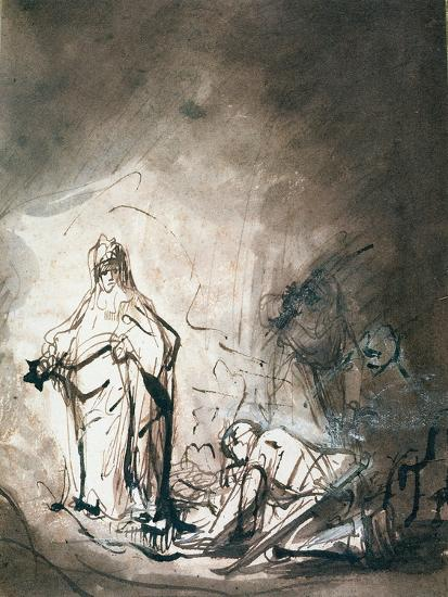 Saul and the Witch of Endor-Ferdinand Bol-Giclee Print