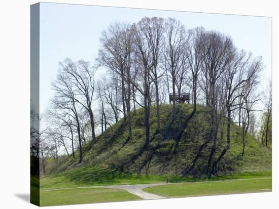 Saul's Mound, 72 Feet High, Largest Middle Woodland Mound Group in the U.S., Tennessee--Stretched Canvas Print