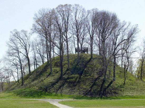 Saul's Mound, 72 Feet High, Largest Middle Woodland Mound Group in the U.S., Tennessee--Photographic Print