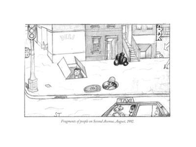 Fragments of people on Second Avenue, August, 1992. - New Yorker Cartoon