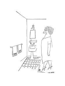 New Yorker Cartoon by Saul Steinberg