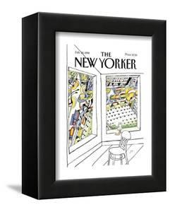 The New Yorker Cover - February 28, 1994 by Saul Steinberg