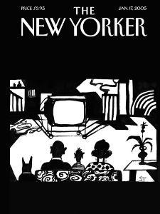 The New Yorker Cover - January 17, 2005 by Saul Steinberg