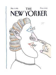 The New Yorker Cover - March 9, 1998 by Saul Steinberg