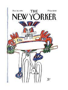 The New Yorker Cover - November 20, 1995 by Saul Steinberg