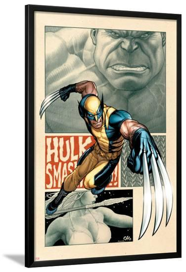 Savage Wolverine #5 Cover: Wolverine-Frank Cho-Lamina Framed Poster