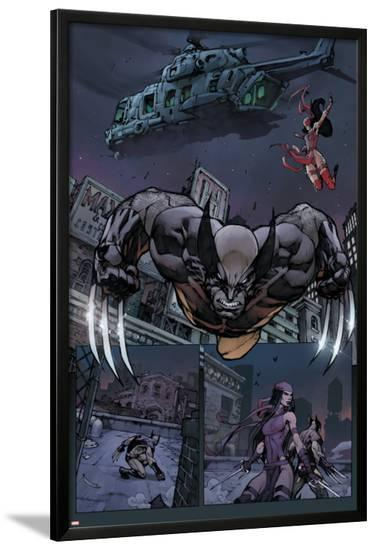 Savage Wolverine #7 Featuring Wolverine, Elektra-Joe Madureira-Lamina Framed Poster