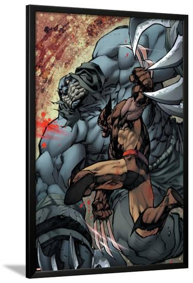 Savage Wolverine #7 Featuring Wolverine, Shikaru the Mute-Joe Madureira-Lamina Framed Poster