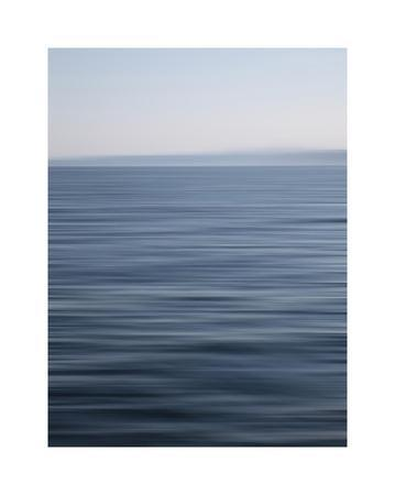 Abstract blue horizon