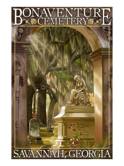Savannah, Georgia - Bonaventure Cemetery-Lantern Press-Art Print