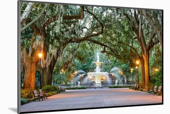 Savannah, Georgia, USA at Forsyth Park Fountain.-SeanPavonePhoto-Mounted Photographic Print