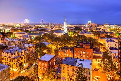 Savannah, Georgia, USA Skyline.-SeanPavonePhoto-Photographic Print
