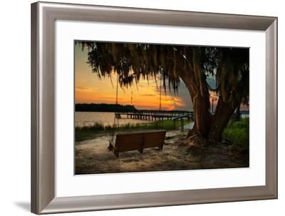 Savannah Sunset-Natalie Mikaels-Framed Photographic Print