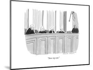 """Save my seat."" - New Yorker Cartoon"