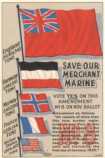 Save Our Merchant Marine--Art Print