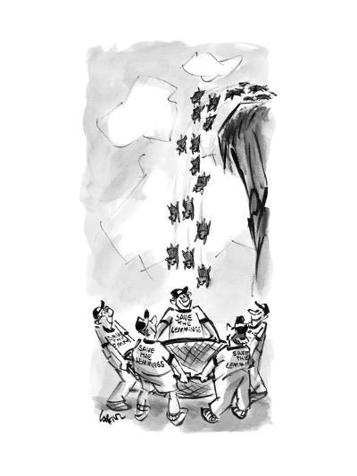 Save the Lemmings - New Yorker Cartoon--Premium Giclee Print