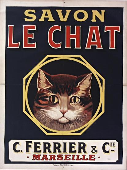 Savon Le Chat Black-Vintage Apple Collection-Giclee Print