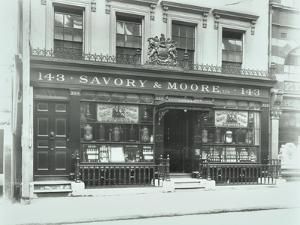 Savory and Moores Pharmacy, 143 New Bond Street, London, 1912