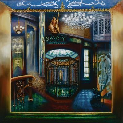 Savoy Hotel, Savoy Interior, Kaspar the Cat, 2010-Lee Campbell-Giclee Print