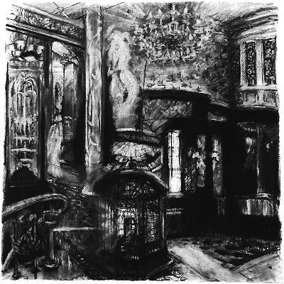 Savoy Shadows, Study for Savoy Interior, 2010-Lee Campbell-Giclee Print