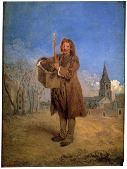 Savoyard with a Marmot, 1716-Jean-Antoine Watteau-Giclee Print