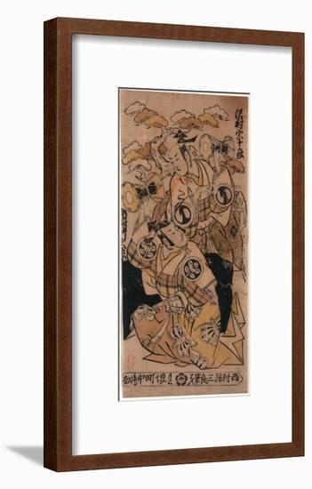 Sawamura Sojuro No Soga No Juro to Ichimura Takenojo No Soga No Goro-Nishimura Shigenaga-Framed Giclee Print