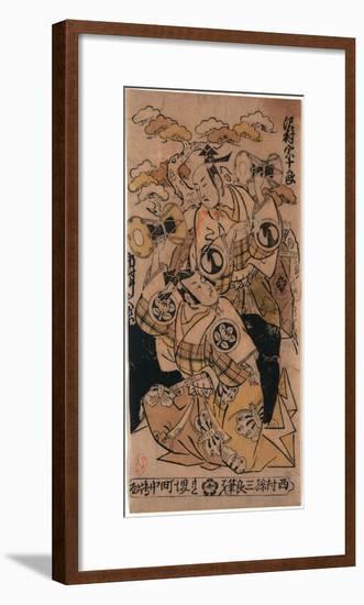 Sawamura Sojuro No Soga No Juro to Ichimura Takenojo No Soga No Goro-Nishimura Shigenaga-Framed Premium Giclee Print