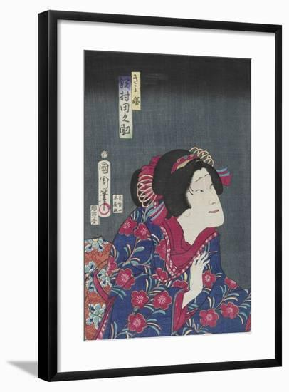 Sawamura Tanosuke as Princess Kiyo, February 1868-Toyohara Kunichika-Framed Giclee Print